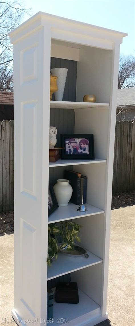 Bi Fold Door Bookshelf My Repurposed Life Bookshelf Closet Door