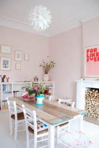 paint color portfolio pale pink dining rooms apartment