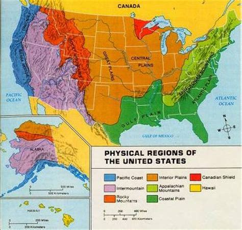 physiographic map of united states physical regions of the us