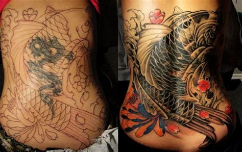 tattoo cover up toronto chronic ink tattoo toronto tattoo koi fish tattoo cover