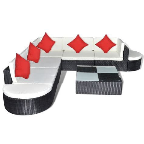 Polyrattan Lounge Schwarz by Poly Rattan Gartenm 246 Bel Set Lounge Schwarz 27 Teilig