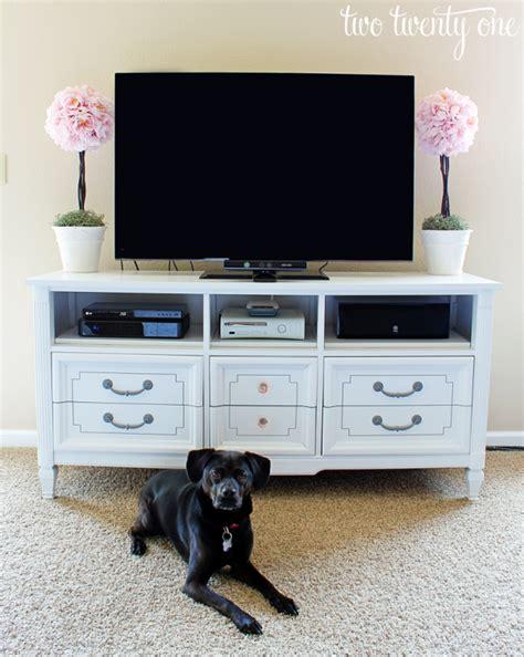 Dresser Tv by Dresser Turned Tv Stand Two Twenty One