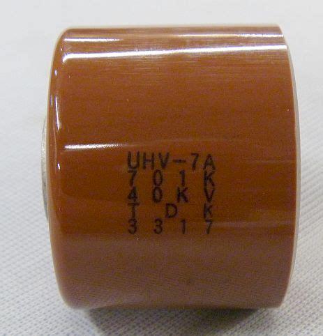 ceramic capacitor tdk tdk molded ultra high voltage ceramic capacitor 700pf 40kv model uhv 7a