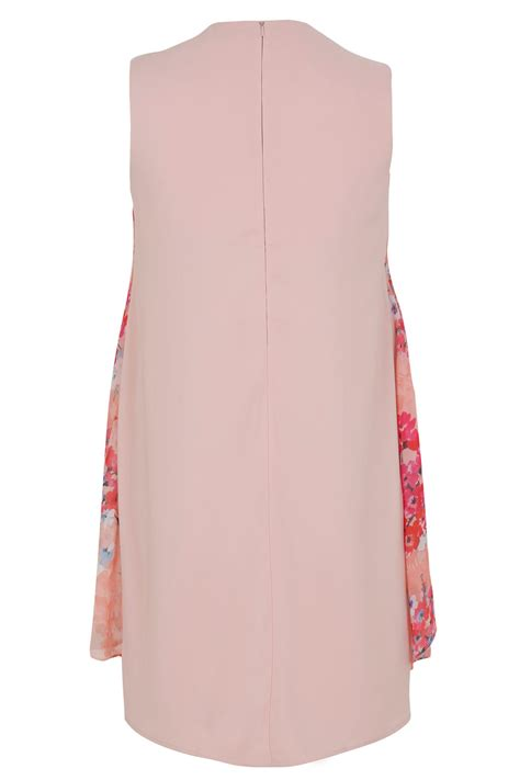 Can You Use A Mastercard Gift Card Online - pink coral floral printed dress with layered front diamante detail neckline plus