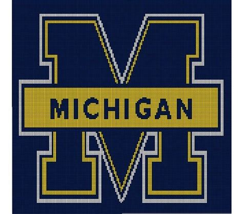 pattern maker university michigan wolverines crochet afghan pattern graph just