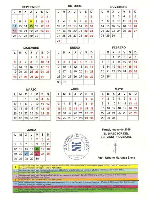 Calend Escolar Uminho 2016 Calendario Escolar 2017 Aragon 28 Images Calendario