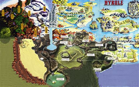 legend of zelda oot map tloz n s hyrule termina map by sos art on deviantart