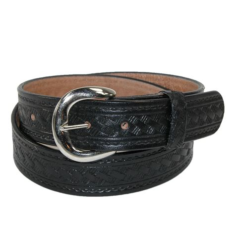 mens big leather western belt with removable buckle