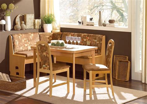 bench dining set kitchen small space hack nook dining breakfast set