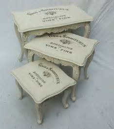 vintage shabby chic nest of tables 11 11 touch the wood