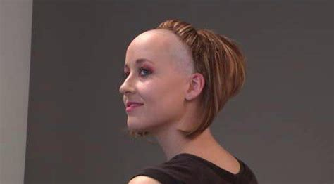 extreme shaved haircuts extreme front half shaved amazing bald women