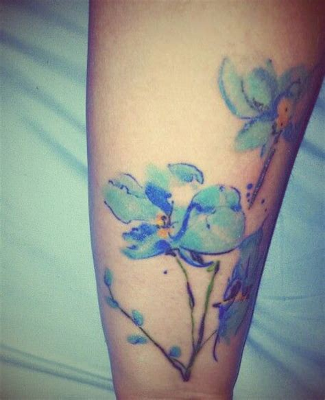 watercolor tattoo edinburgh 25 b 228 sta id 233 erna om blue orchid p 229