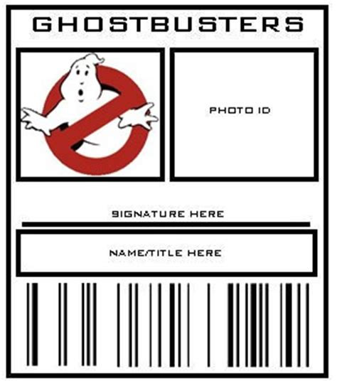 ghostbusters id card template ghostbusters id badges pic intensive ghostbusters fans