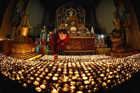1 000 buddhist candles in st petersburg russia beyond
