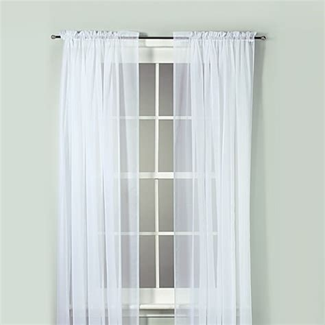 72 sheer curtains buy voile 72 inch sheer rod pocket window curtain panel in