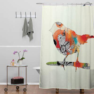little bird curtains deny designs iveta abolina polyester little bird shower