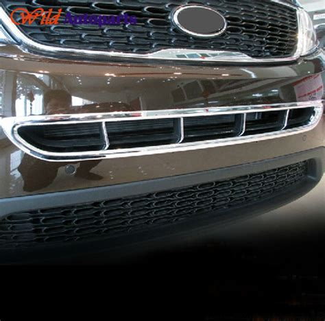 Cover List Garnish Grill Tengah Calya Chrome 1 mirror chrome front grille lower grill garnish trim cover for kia sorento 2014 in racing grills