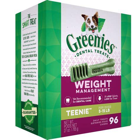 weight management treats greenies weight management treat pak teenie 27 oz