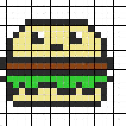 cute hamburger perler bead pattern | bead sprites | food