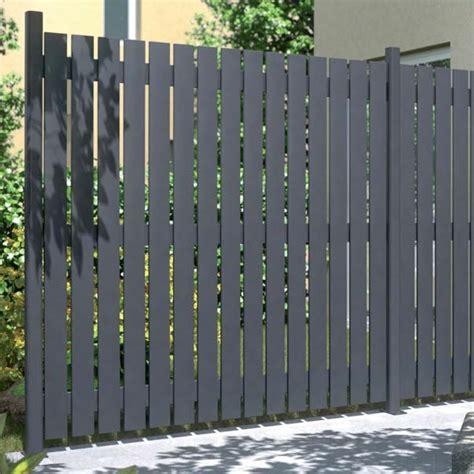 sichtschutzzaun aus aluminium squadra anthrazit matt 180 x