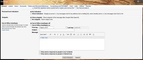 Out Of Office Gmail by Out Of Office Autoreply In Gmail