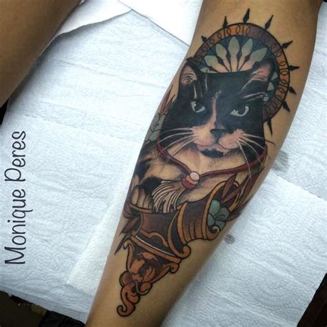 neo traditional cat tattoo cat tattoo neo traditional monique peres tattoos by