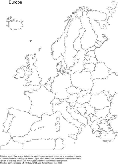 europe coloring map coloring home