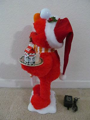 motion ettes of christmas figures santa elmo sesame telco motion ettes animated display figure ebay