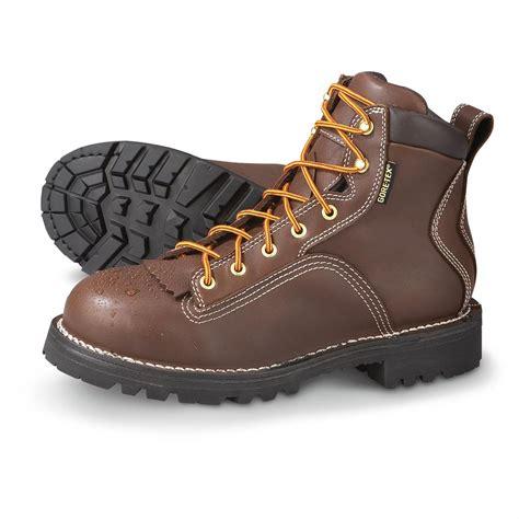 danner steel toe boots s danner 174 tex 174 steel toe quarry boots brown