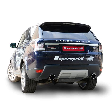 racing land rover performance sport exhaust for range rover sport mk2 tdv6