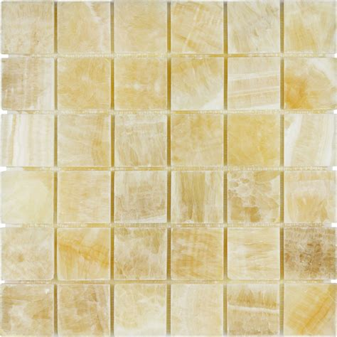 2 x 2 squares honey onyx polished mosaic backsplash