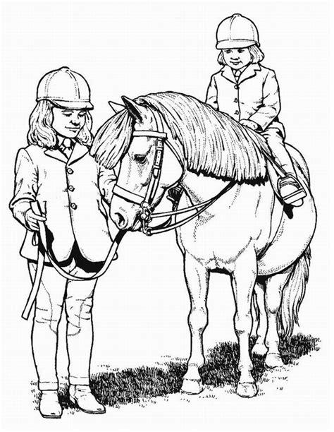 Coloriage poney à imprimer gratuitement