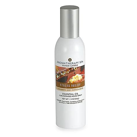 yankee candle room spray yankee candle 174 spa relief cinnamon 1 5 ounce concentrated room spray bed bath beyond