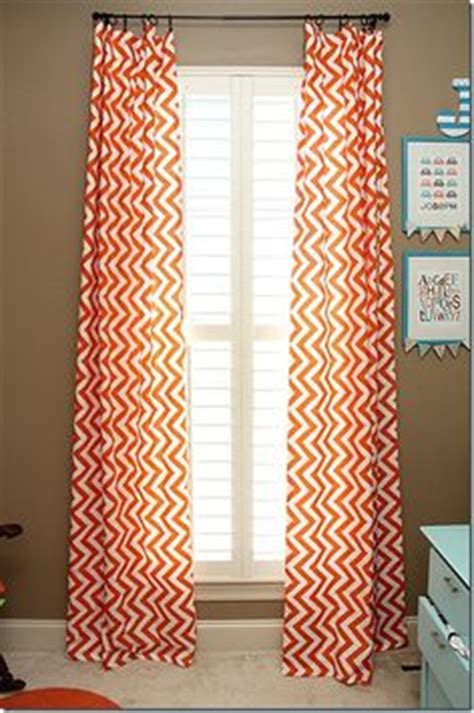 orange and white chevron curtains 1000 images about chevron curtains on pinterest chevron