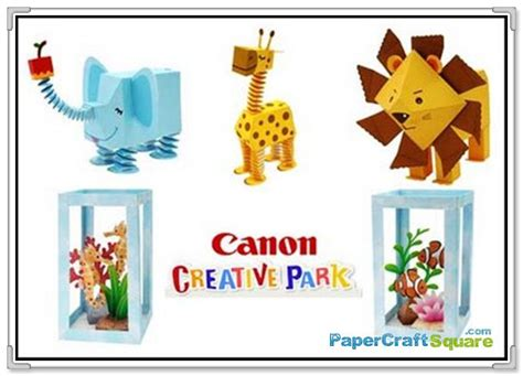 Creative Park Papercraft - canon papercraft zoo aquarium