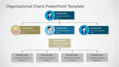 organizational chart powerpoint template parallel orgcharts diagrams for powerpoint slidemodel