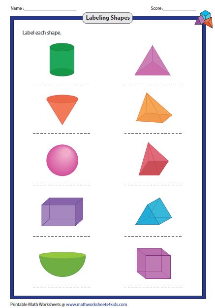 shapes worksheet with names printables shape with name gozoneguide thousands of