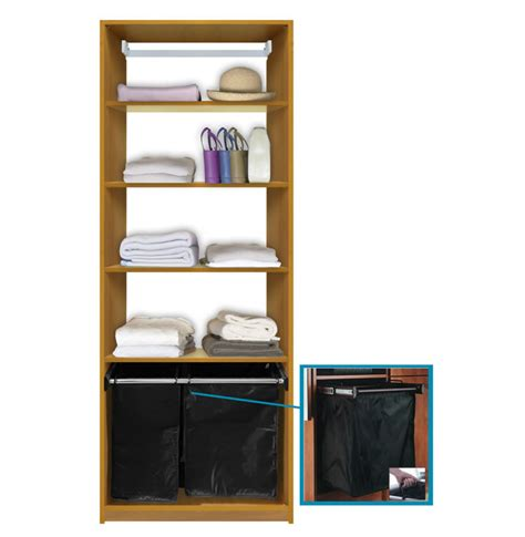 isa custom closet shelves with her pullout contempo space
