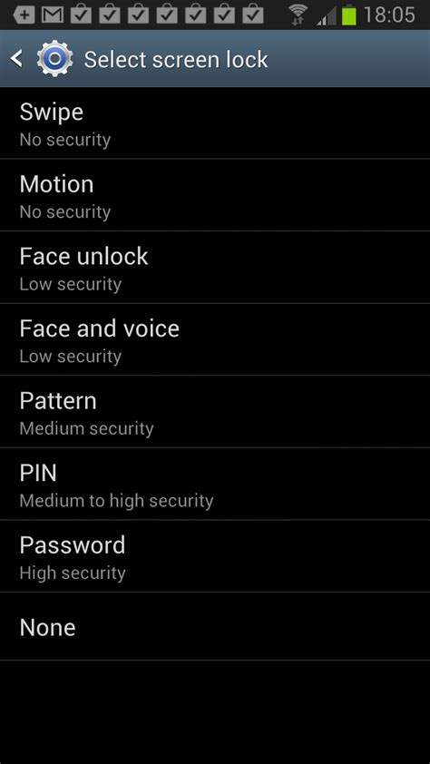 android screen lock encrypt all data on your android phone ghacks tech news