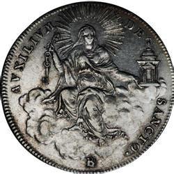 sede papale papal states sede vacante 1 2 scudo 1823b