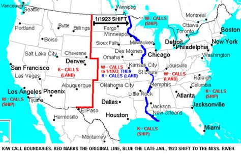 map of us east of mississippi river the why and where of u s radio s k and w call signs