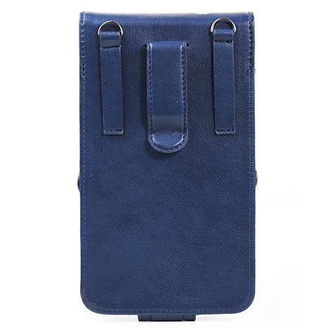 Remax Wallet Pedestrain For Samsung Blue remax pedestrian universal hanging leather cover