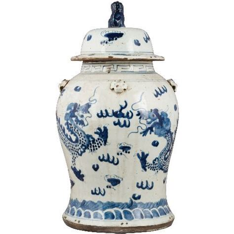 blue and white porcelain ls blue and white porcelain jar foo dragons