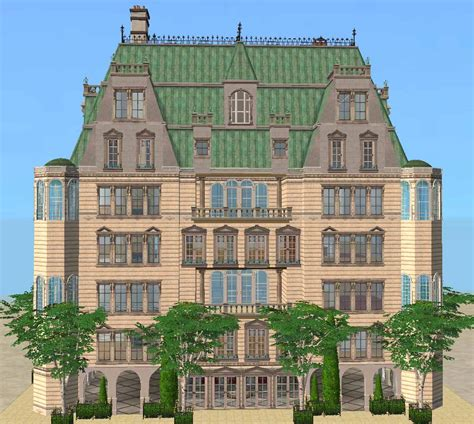 Sims 2 Apartment Zoning Mod The Sims Baroque Aristocratic Apartment Building