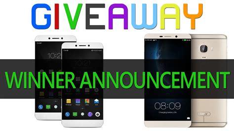 Smartphones Giveaway - 3 smartphones giveaway winner announcement phonebunch