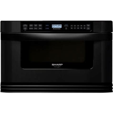 Home Depot Microwave Drawer by Sharp Refurbished Insight 1 0 Cu Ft Microwave Drawer In Black With Sensor Cooking Kb6021mkrb