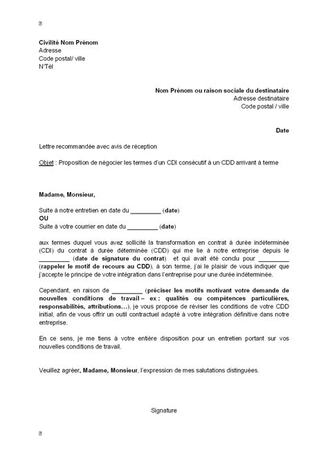 Credit Immobilier En Cdd 2668 by Pr 195 169 Avis Rupture D Un Cdd Pour Un Cdi