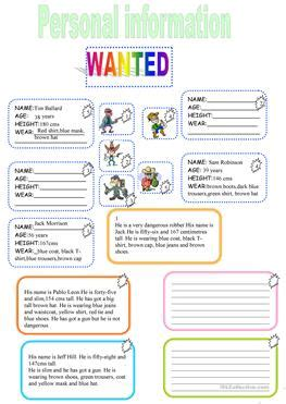 Search By Age And Name 15 Free Esl Age Name Worksheets