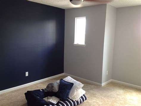 sherwin williams naval with gray screen on opposing wall new home decor colors