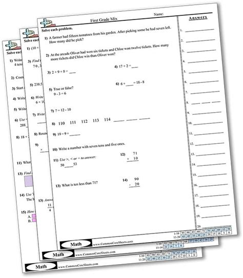 Common Worksheets by Common Sheets Common Resources